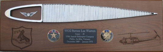 Sample Rotor Blade Plaque - click to enlarge